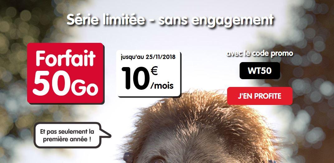 NRJ Mobile lance un forfait 50 Go à 10 euros par mois à vie !