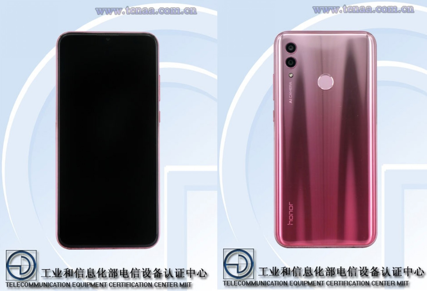 Honor 10 Lite - Source : TENAA