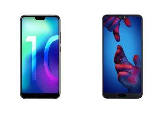 Honor 10 et Huawei P20