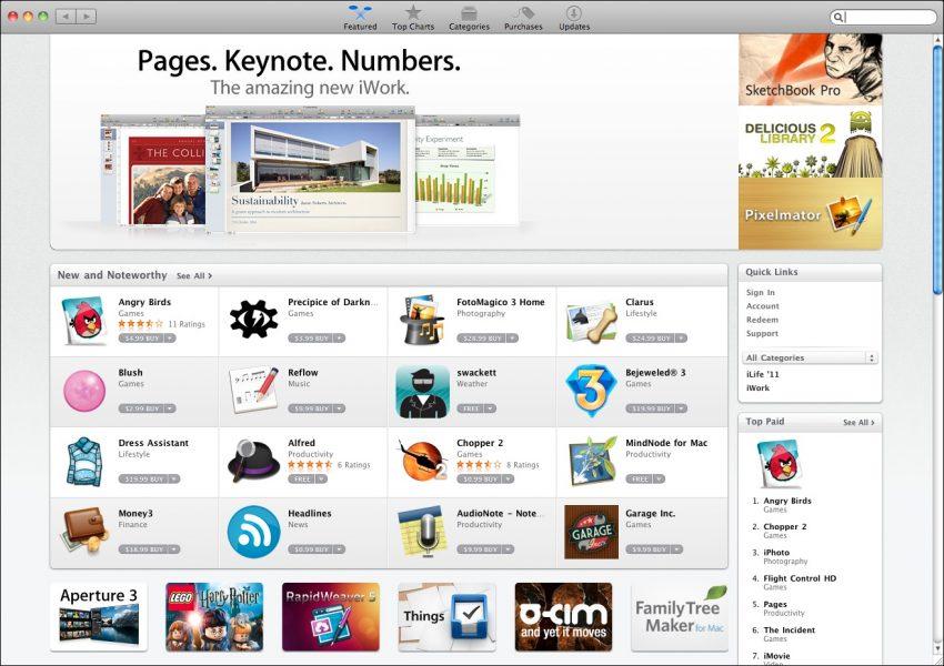 Mac App Store: 11 catégories disparaissent puis réapparaissent sans raison apparente