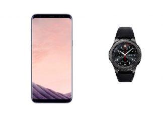 Samsung Galaxy S8+ et Samsung Gear S3 Frontier