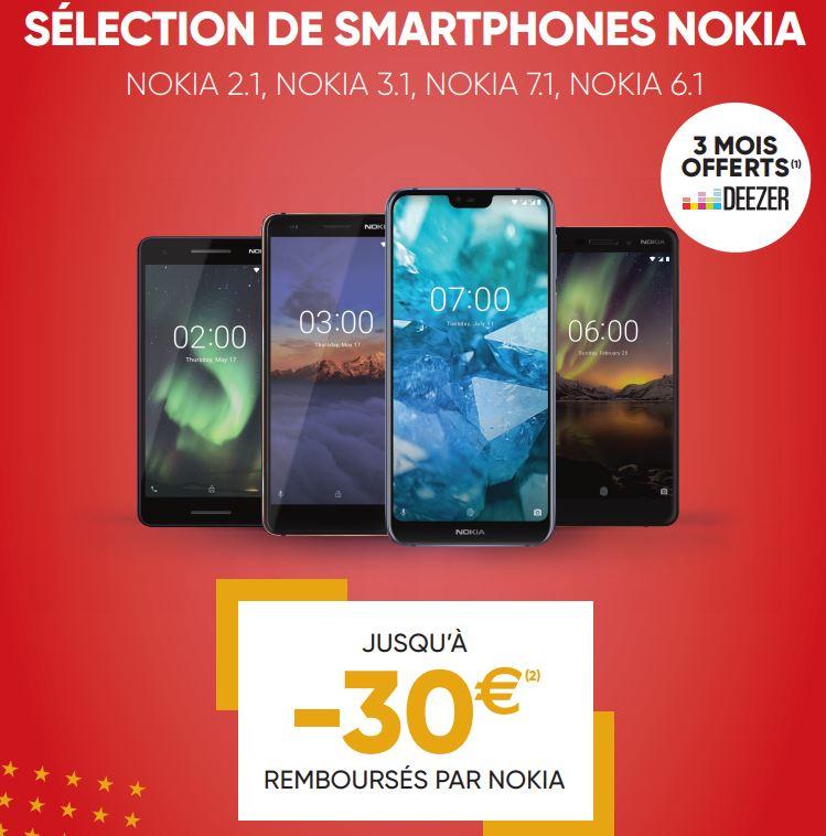 La sélection de smartphones Nokia