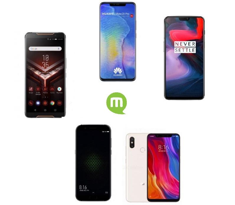 Les 5 smartphones qui affolent les benchmarks