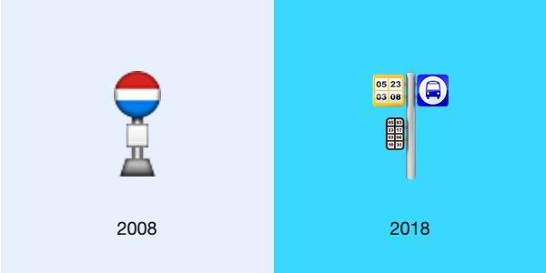 bus stop ios 2008 2018 emojipedia - L'évolution des emojis d'iPhone depuis leur 10 ans d'existence