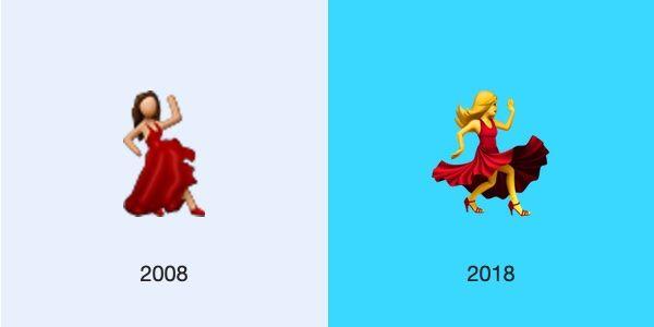 dancer ios 2008 2018 emojipedia - L'évolution des emojis d'iPhone depuis leur 10 ans d'existence