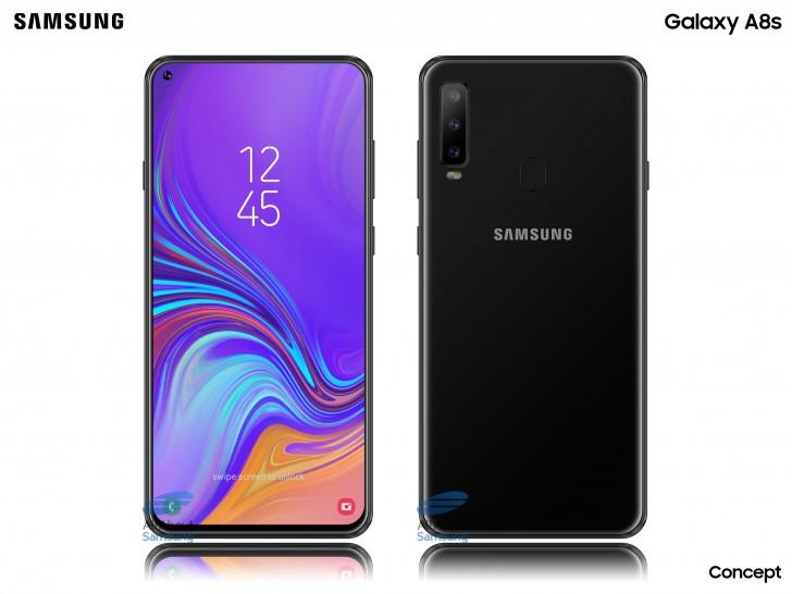 Samsung Galaxy A8s : des premières images de rendu publiées sur internet