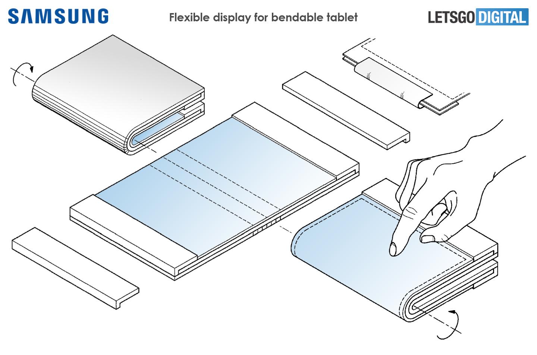 Un brevet pour une tablette pliable