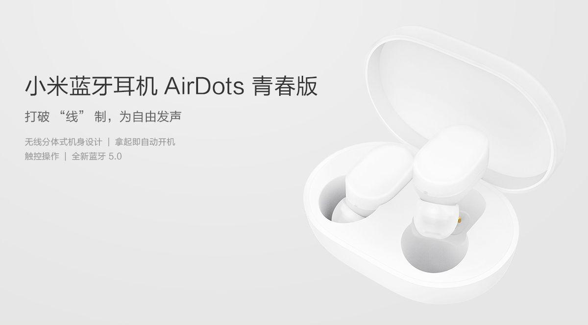 AirDots : Xiaomi nous dévoile ses écouteurs sans fils à 30 euros