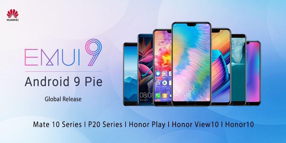 7 smartphones Huawei et Honor vont très bientôt accueillir Android 9 Pie