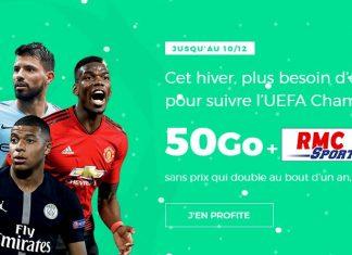 Le forfait RED by SFR 50 Go + RMC Sport à 25 euros !