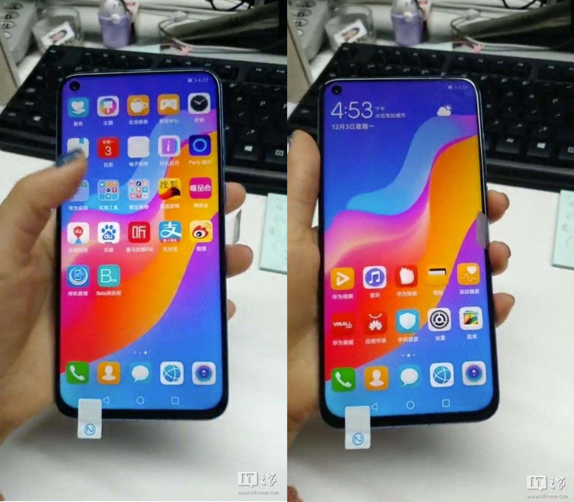 Huawei Nova 4 : de nouvelles photos nous donnent un aperçu de la mini-encoche
