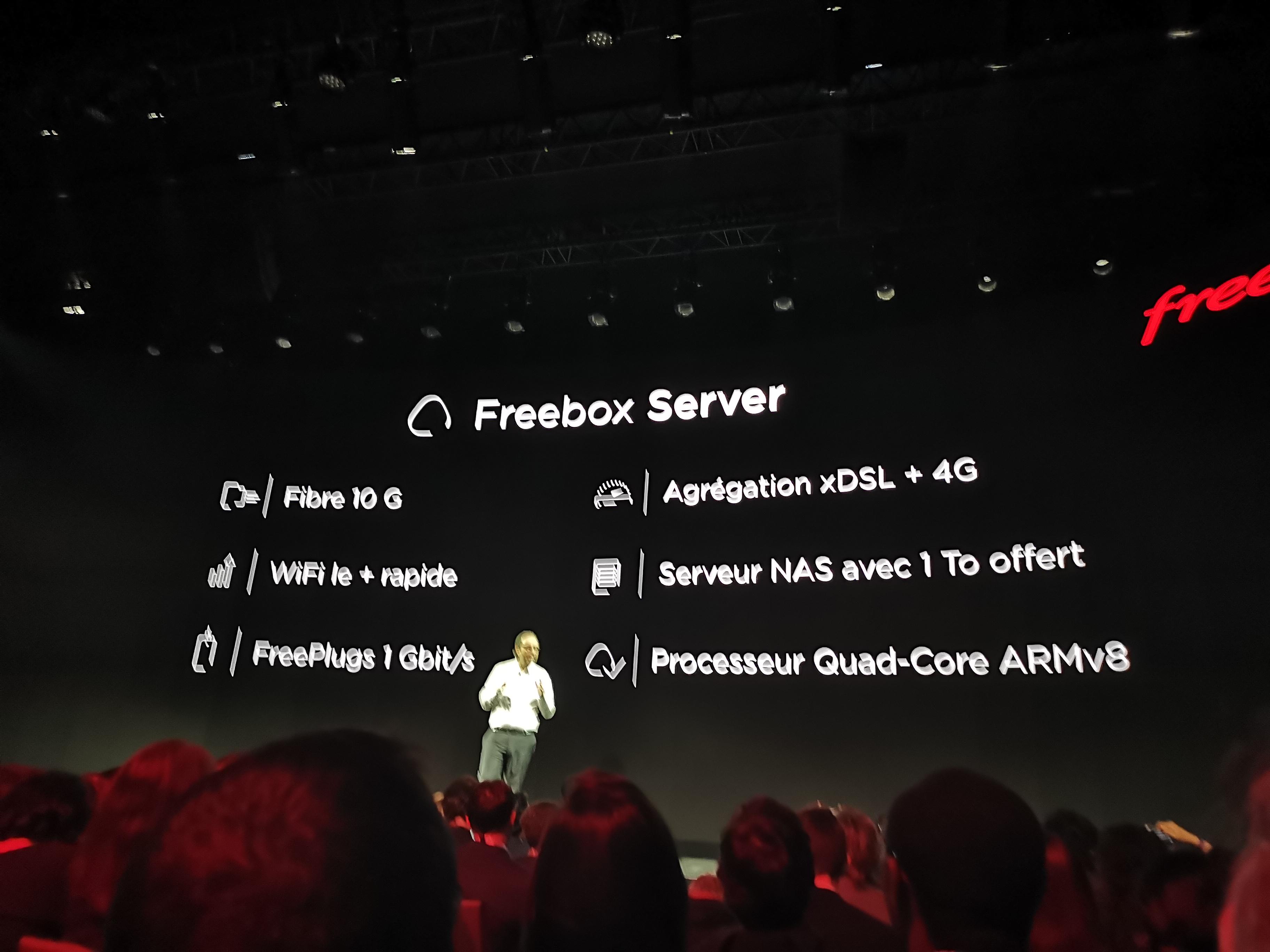 Les caractéristiques du Freebox Server