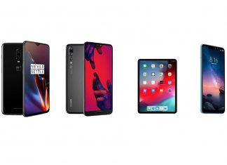 OnePlus 6T, Huawei P20 Pro, iPad 11 et Xiaomi Redmi Note 6 Pro