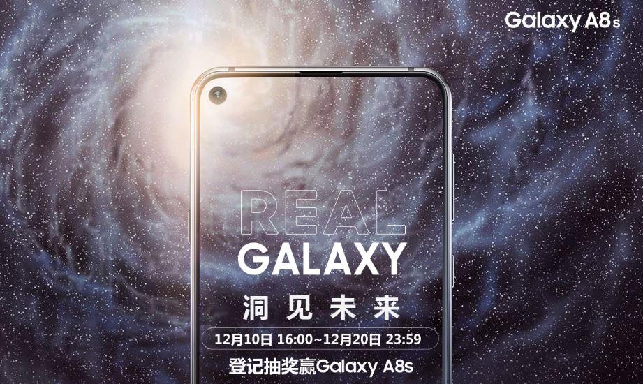 Présentation du Samsung Galaxy A8s : l'écran Infinity-O est bien de la partie !