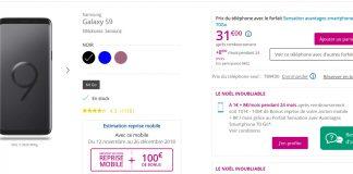 Samsung Galaxy S9 Bouygues Telecom