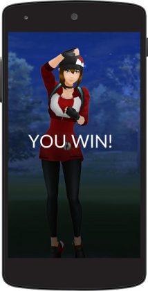 Victoire 214x420 - Pokemon Go : le mode Trainer Battles arrive sur un plateau