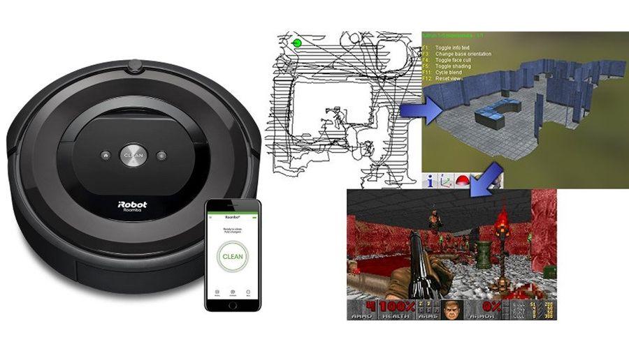 Un développeur a transformé les cartes d'aspirateur Roomba en des niveaux de Doom