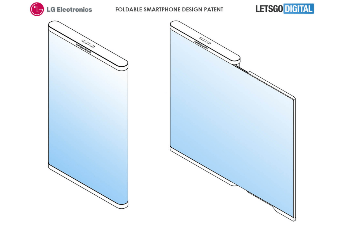 Croquis brevet smartphone pliable de LG
