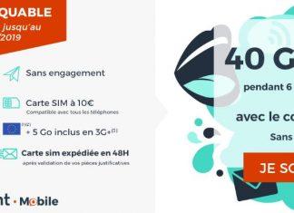 Forfait Cdiscount Mobile 40 Go en promo
