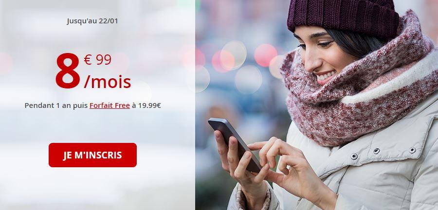 Forfait Free Mobile 60 Go en promo