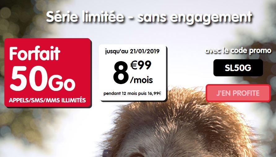 Bon plan : un forfait 50 Go à 8.99 euros proposé par NRJ Mobile !