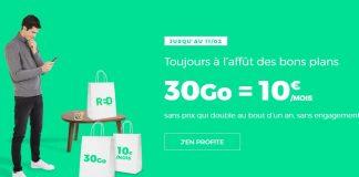 30 Go pour 10 euros chez RED by SFR