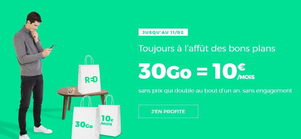 Bon plan : un forfait à 10 euros avec 30 Go chez RED by SFR !