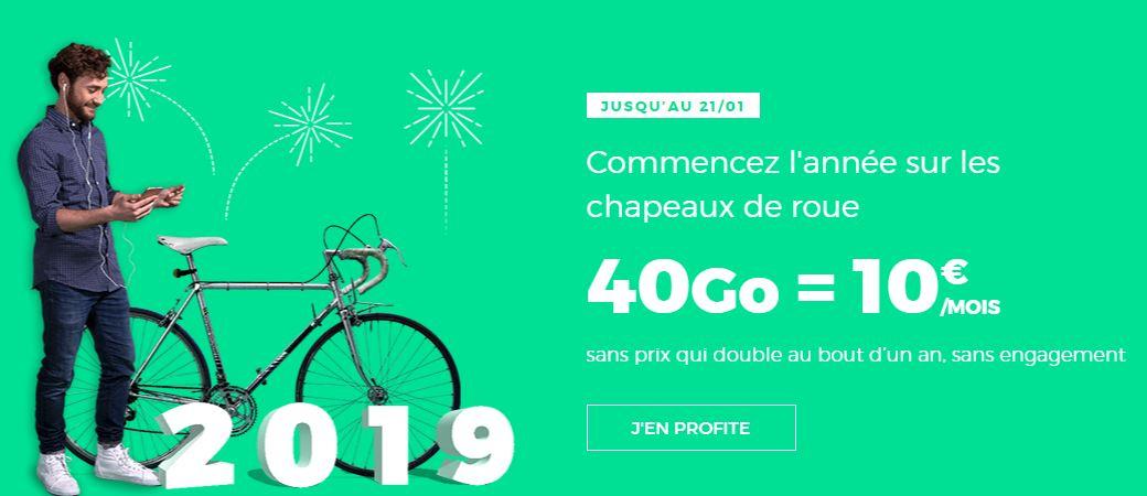 Soldes d'hiver 2019 : forfait RED by SFR 40 Go à 10 euros prolongé !