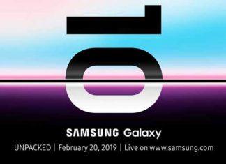 Invitation pour la présentation des Galaxy S10