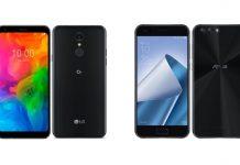 LG Q7 et Asus ZenFone 4