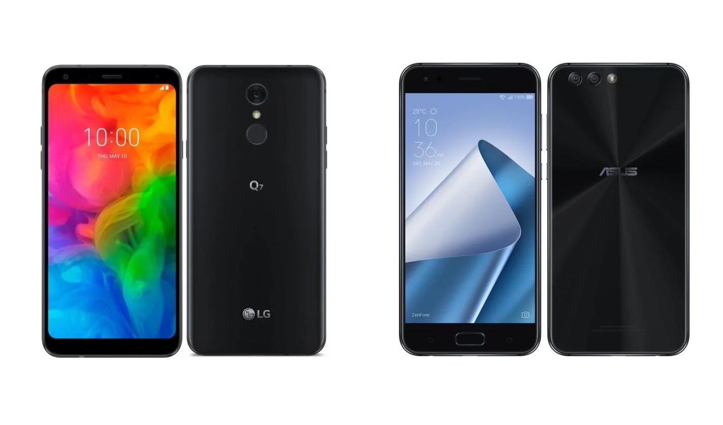 Soldes d'hiver 2019 : LG Q7 à 129.99 euros et Asus ZenFone 4 à 149.99 euros chez Rue du Commerce