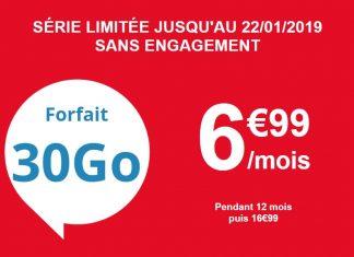 Forfait 30 Go d'Auchan Telecom en promo