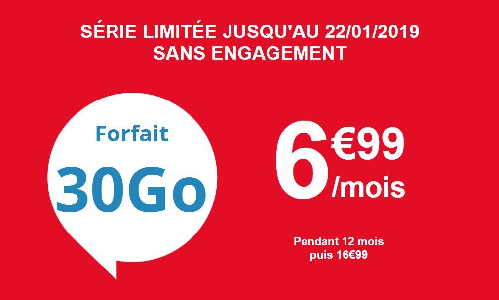 Bon plan : forfait 30 Go d'Auchan Telecom à 6.99 euros !