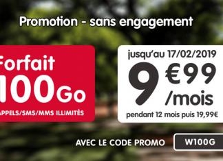 Forfait 100 Go de NRJ Mobile à 9.99 euros