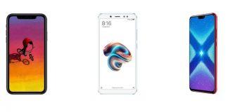 iPhone Xr, Xiaomi Redmi Note 5 et Honor 8X