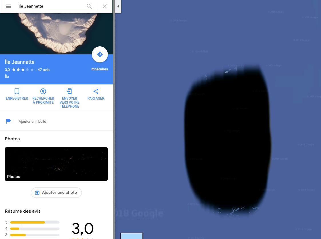 Google Maps : impossible de voir une île