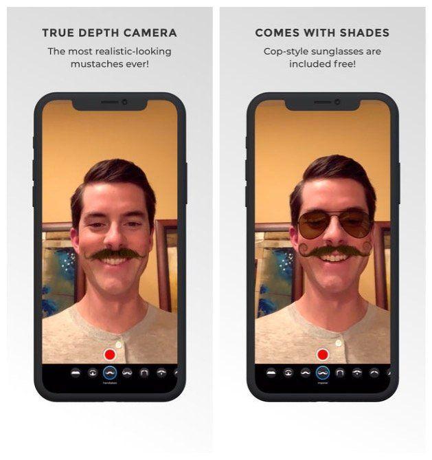 Real Mustache AR : dotez-vous d'une superbe moustache sur votre iPhone X et iPad Pro 2018