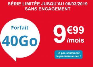 Auchan Telecom propose son forfait 40 Go à 9.99 euros