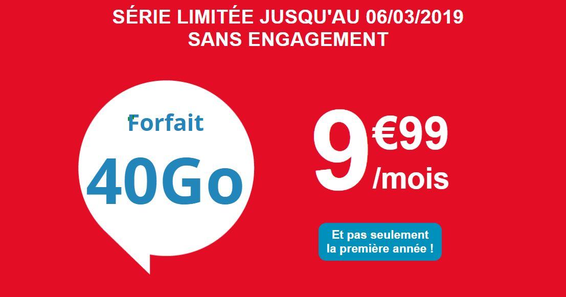 Bon plan : le forfait Auchan Telecom 40 Go passe à 9.99 euros !