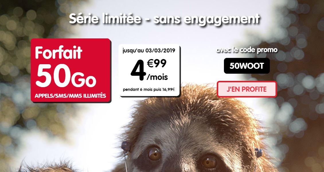Bon plan : forfait 50 Go de NRJ Mobile à 4.99 euros au lieu de 16.99 euros