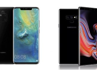 Le Huawei Mate 20 Pro et le Samsung Galaxy Note 9