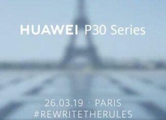 Les Huawei P30 et P30 Pro seront présentés à Paris !