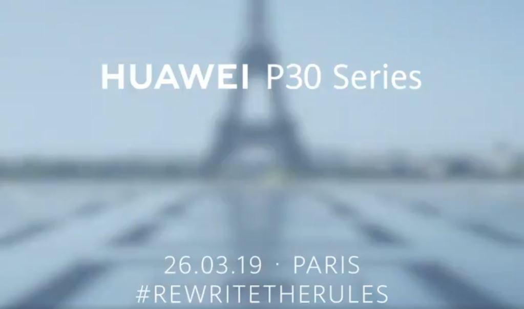 Les Huawei P30 et Huawei P30 Pro débarquent à Paris le 26 mars