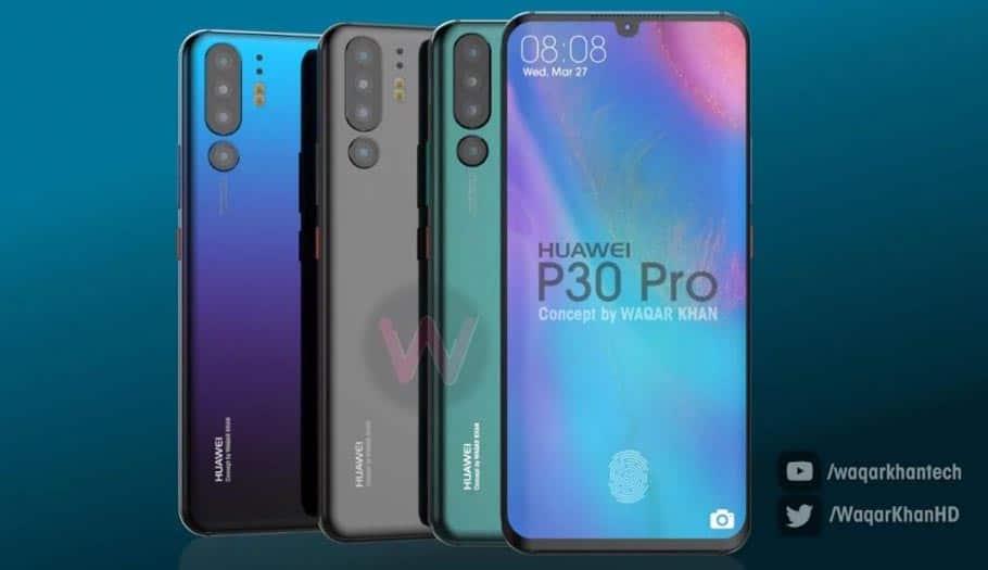 Huawei P30 Pro : les 4 capteurs photo avec zoom X10 confirmés