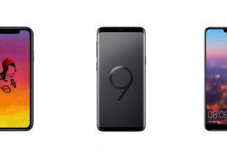 iPhone XR, Samsung Galaxy S9 et Huawei P20 Pro