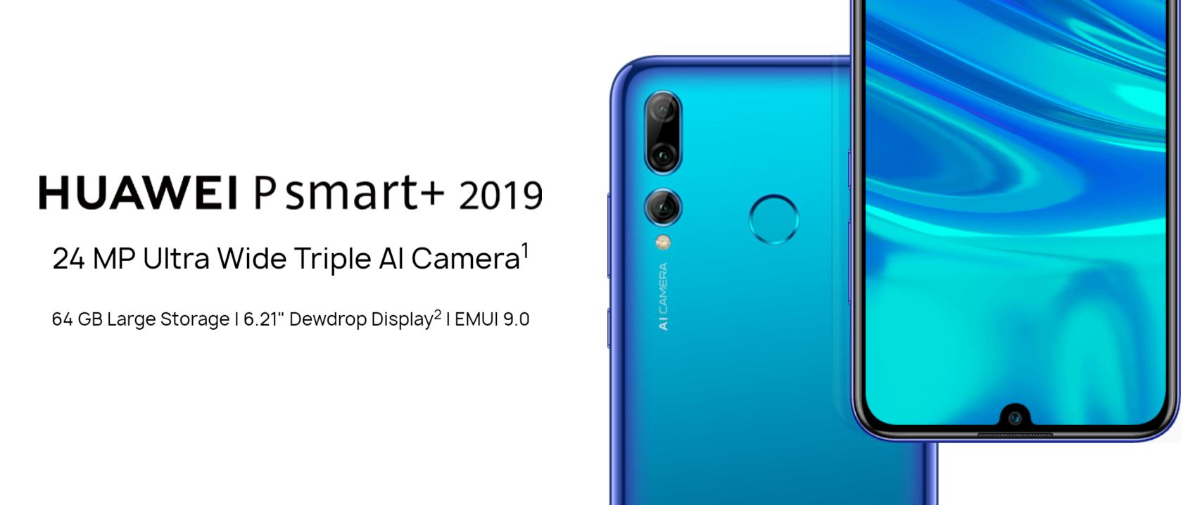 Huawei dévoile son P Smart+ 2019, un P Smart classique avec triple capteur photo