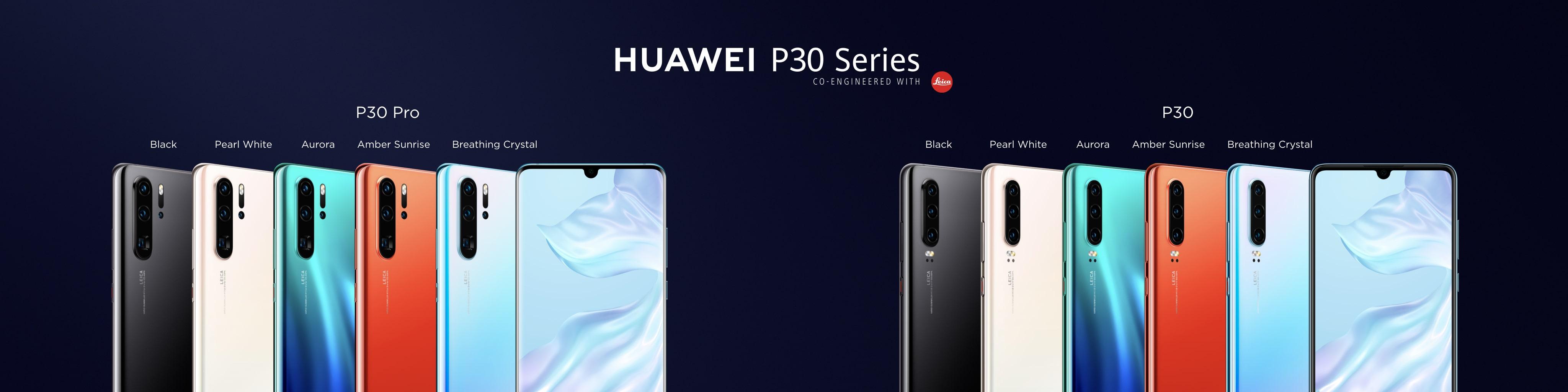 Les Huawei P30 et P30 Pro