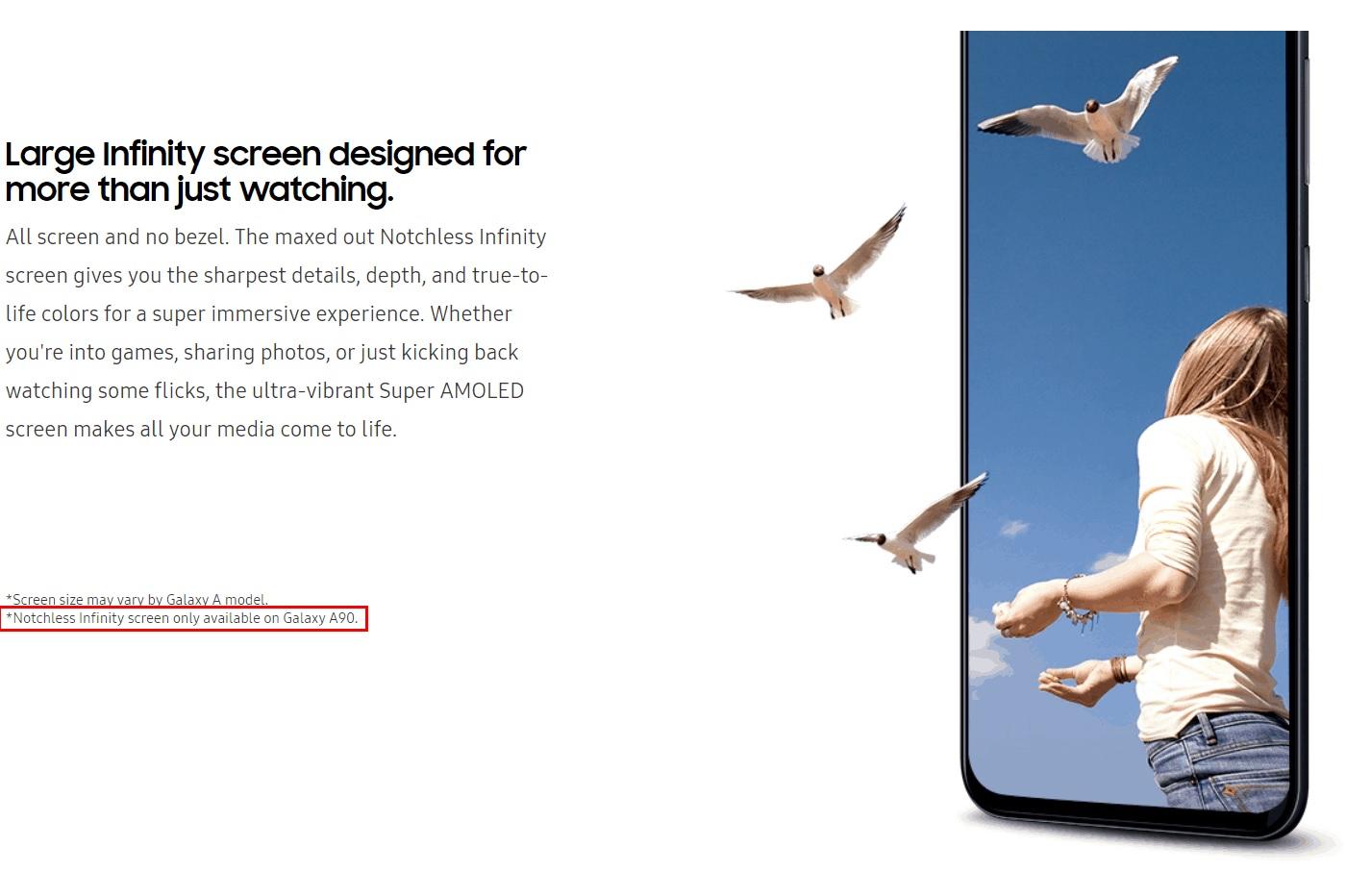 Samsung Galaxy A90 : le design « Notchless Infinity » se précise