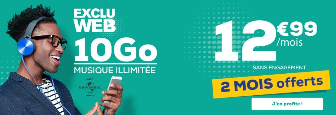 Bon plan : forfait La Poste Mobile 10 Go + musique illimitée + 2 mois offerts à 12.99 euros