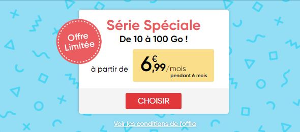 Bon plan : quelques jours de plus pour la série spéciale Prixtel 100 Go à partir de 6.99 euros
